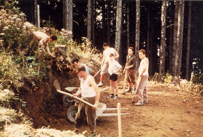 Bauarbeiten Älpler 1966